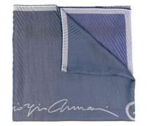 Gestreifter Schal mit Jacquard-Logo