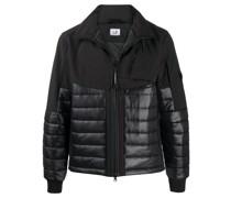 zip-up panelled jacket
