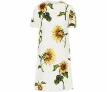 Minikleid mit Sonnenblumen-Print