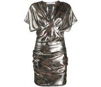 Gerafftes 'Mimeta' Metallic-Kleid