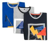 Langarmshirt mit Blitz-Print