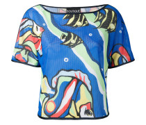 fish-print blouse - women - Polyester - 44