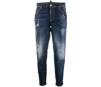 'Hockney' Cropped-Jeans