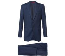 notched lapel two-piece suit - men - Wolle - 54