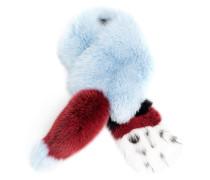 colour block fur stole