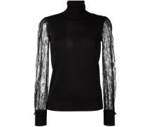 Pullover mit semi-transparenten Ärmeln