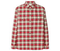embroidered vintage check shirt