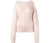 Pullover mit Zopfmuster - women