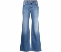 P.A.R.O.S.H. Weite High-Waist-Jeans