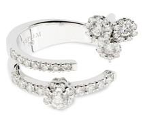 Offener 18kt Weißgoldring mit Diamanten
