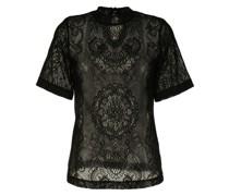 T-Shirt aus Spitzen-Jacquard