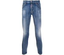 Skinny-Jeans mit Bleach-Effekt