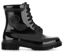 Glänzende Stiefel im Military-Look