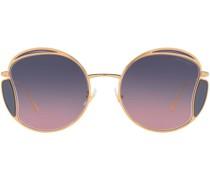 round-frame gradient sunglasses