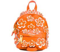 Rucksack mit Blütenapplikation - women - Leder
