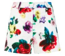 Shorts mit Pixelblumen-Print