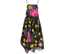 Asymmetrisches Kleid mit Blumen
