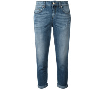 Croppe-Jeans mit Umschlag - women