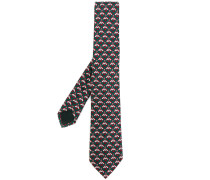 Krawatte mit Biene-Stickerei
