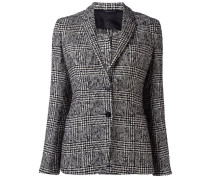 tweed single breasted blazer