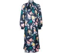 Geblümtes Kleid mit Faltendetails
