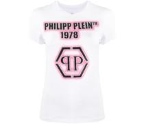 T-Shirt mit verziertem Logo