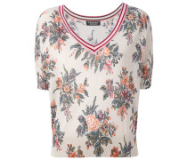 floral shortsleeved sweater - women - Baumwolle