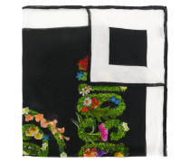 floral logo scarf