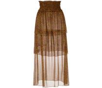 printed silk midi skirt - Unavailable