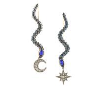 Schlangenförmige Ohrringe mit Swarovski-Kristallen