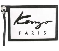 Kleine Clutch mit Logo-Stempel