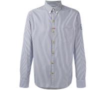 Gestreiftes Button-down-Hemd - men - Baumwolle