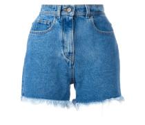 Jeansshorts mit Fransen - women - Baumwolle - 42