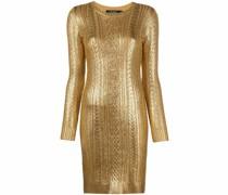 Metallic-Kleid mit Zopfmuster