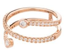 14kt Rotgoldring mit Diamanten - 107 - Metallic:
