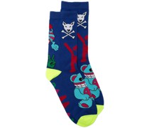 Socken mit Cartoon-Print