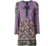 paisley print fringed dress