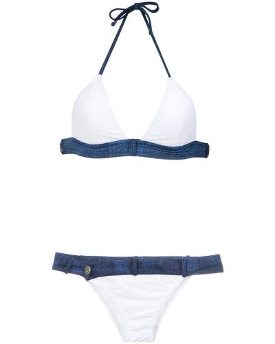 Bikini mit Jeanseinsätzen