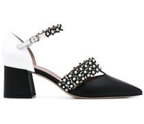 Sandalen mit Kontrateinsatz - women - Leder - 36