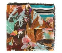 tropical print scarf