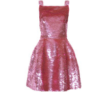 sequinned flared dress