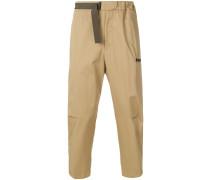 Cropped-Hose aus Baumwolle