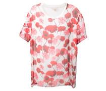 Lockeres T-Shirt mit Blumen-Print