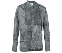 destroyed patched shirt