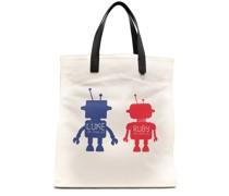 Shopper mit grafischem Print