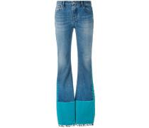 Jeans mit Samteinsatz