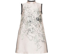 floral print silk mini dress