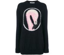 Pullover mit Flamingomuster