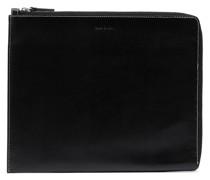 zip-up leather laptop case