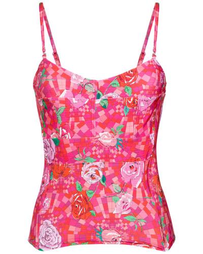 Bikinioberteil mit floralem Print